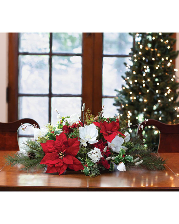Holiday Tradition<br>Silk Christmas Centerpiece
