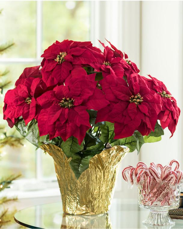 Premier Silk Poinsettia - Large