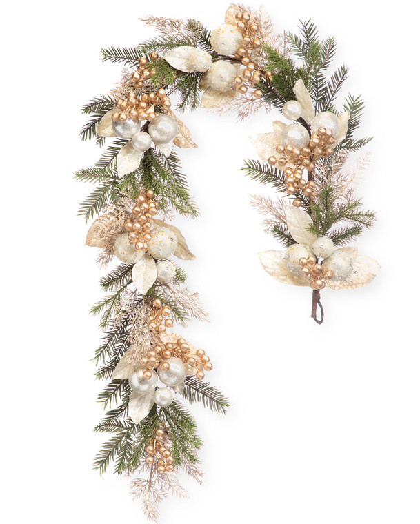 Pearl & Gold Artificial Holiday Garland