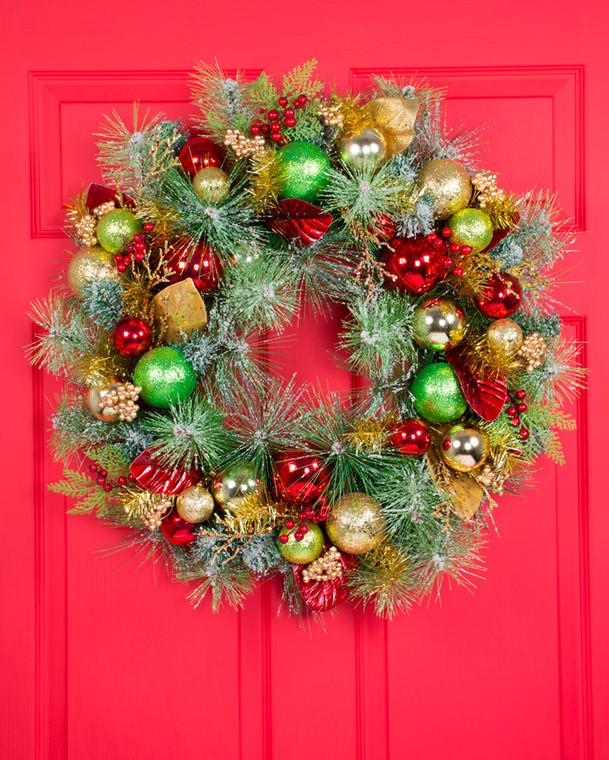 "Holiday Sparkle 26"" Artificial Christmas Wreath"