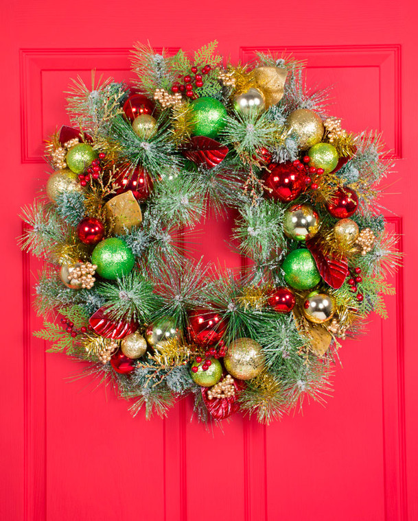 "Holiday Sparkle 30"" Artificial Christmas Wreath"