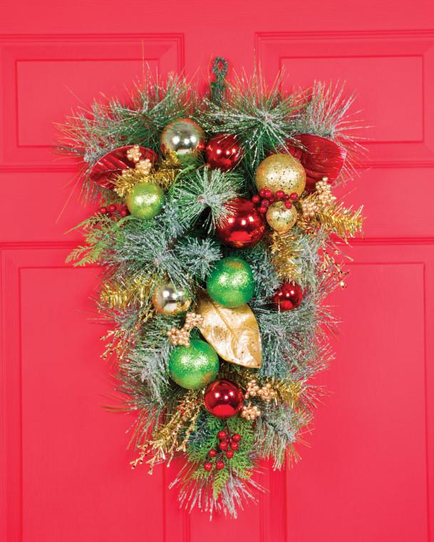 Holiday Sparkle Artificial Christmas Teardrop