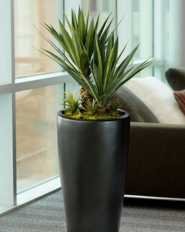 Large Succulent Agave Americana Artificial Plant is lifelike and nature when displayed alone or with other plants