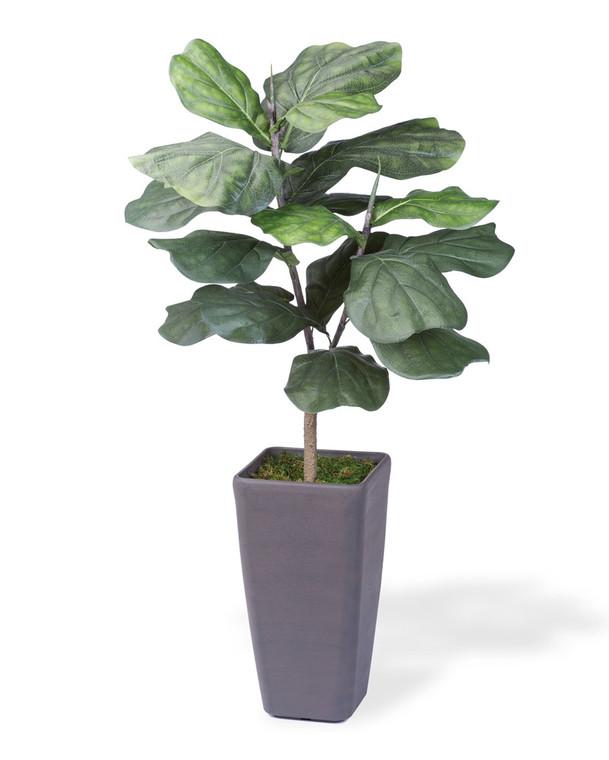3' Faux Big Leaf<br>Fiddle Fig Plant