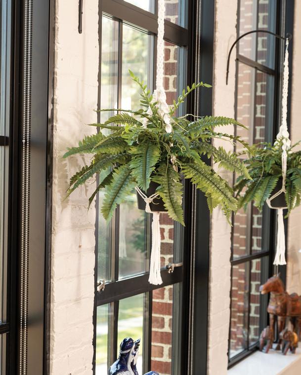 Hanging Boston Fern Silk Foliage Plant