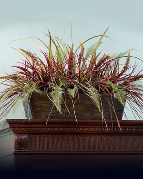 Grasses & Fern Armoire Topper