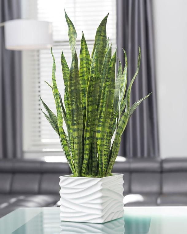 Sansevieria Planter Artificial Foliage Arrangement