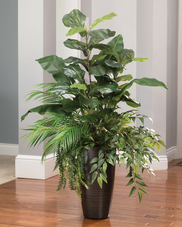 Fiddle Leaf & Palm<br>Faux Foliage Arrangement
