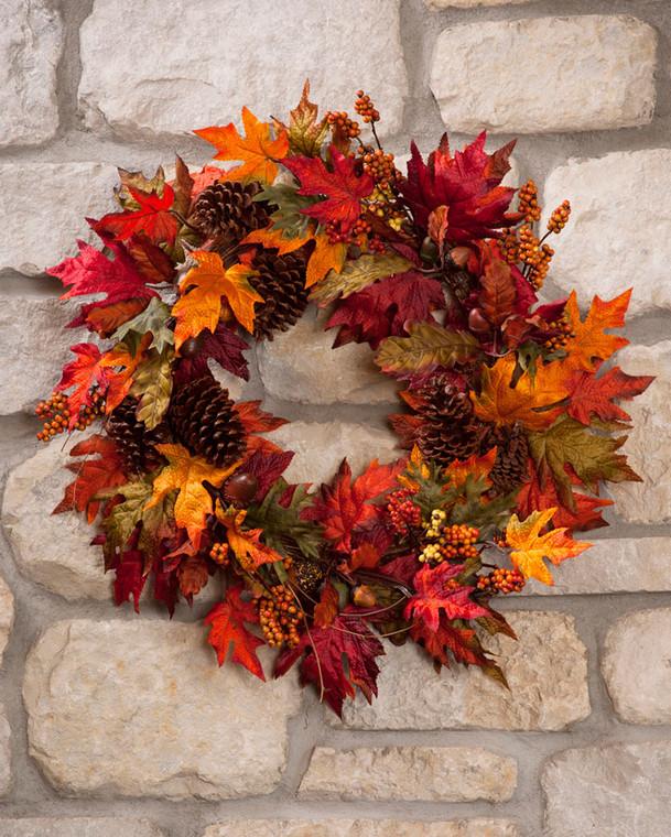 Autumn Maple Wreath