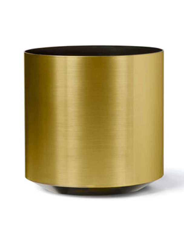 """Cylinder Container - 14"""" W x  14"""" H - Brushed Gold"""