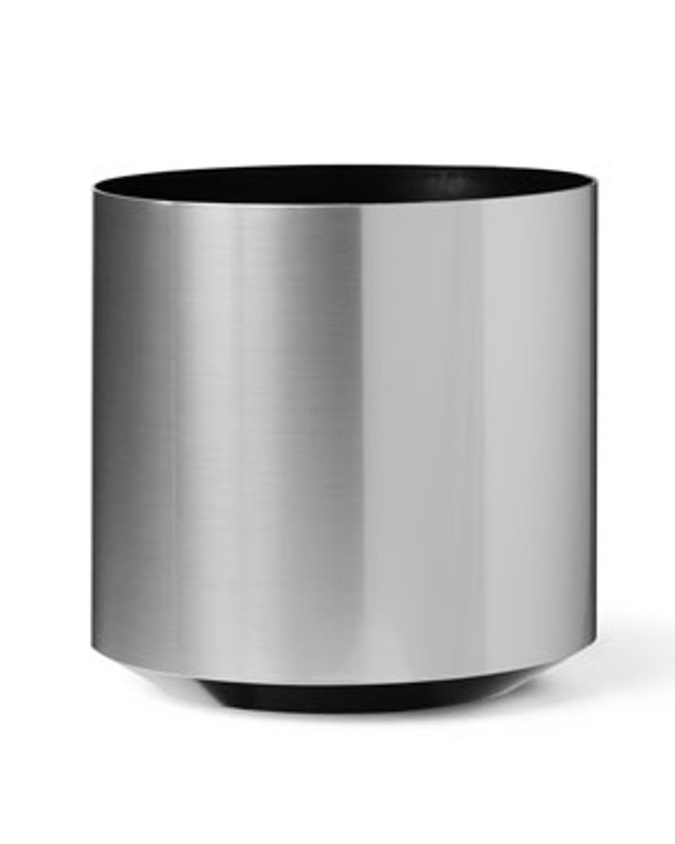"""Cylinder Container - 20"""" W x 18"""" H - Brushed Chrome"""