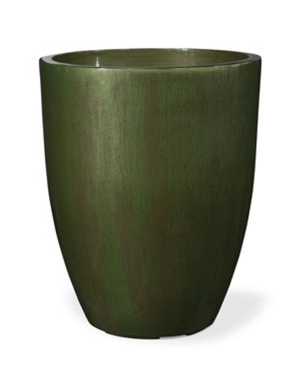"""Fiberglass Garden Glaze Container - 14"""" W x 17""""H - Green"""