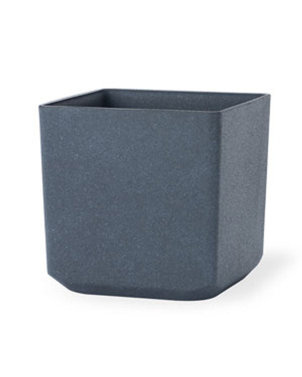 "Cubico Decorative Container - 17""W x 17""H - Granite Gray"