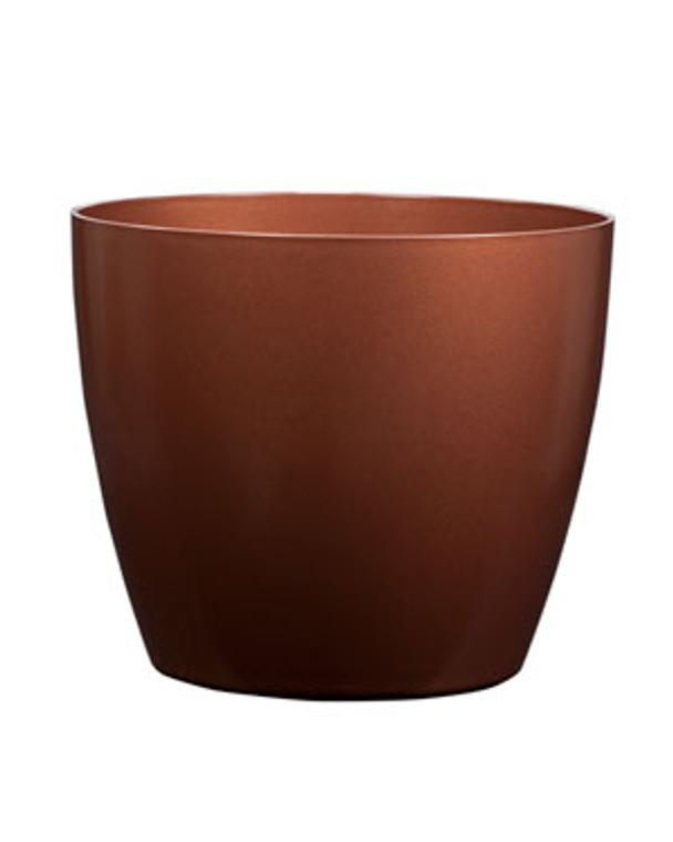 """Fiberglass Uptown Container - 17""""W x 16""""H - Burnt Copper"""