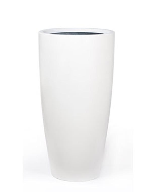 """Fiberglass Tall Uptown - 12""""W x 24""""H - Satin White"""