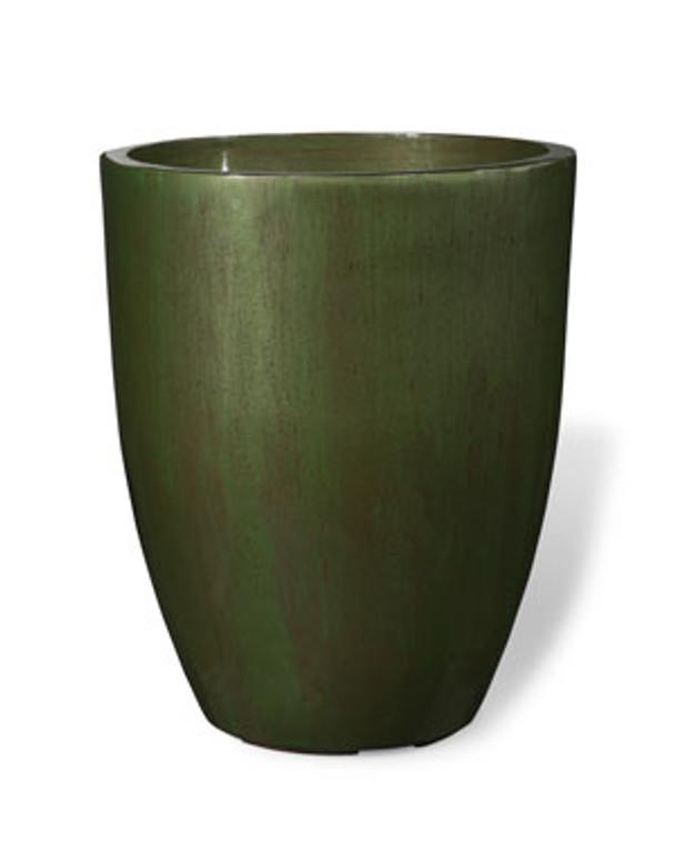 """Fiberglass Garden Glaze Container - 17""""W x 20""""H - Green"""