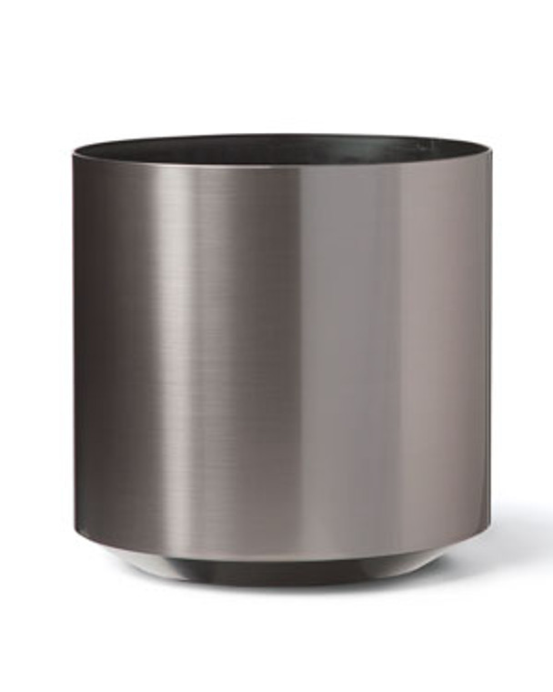 """Cylinder Container - 12"""" W x  12"""" H - Brushed Graphite"""