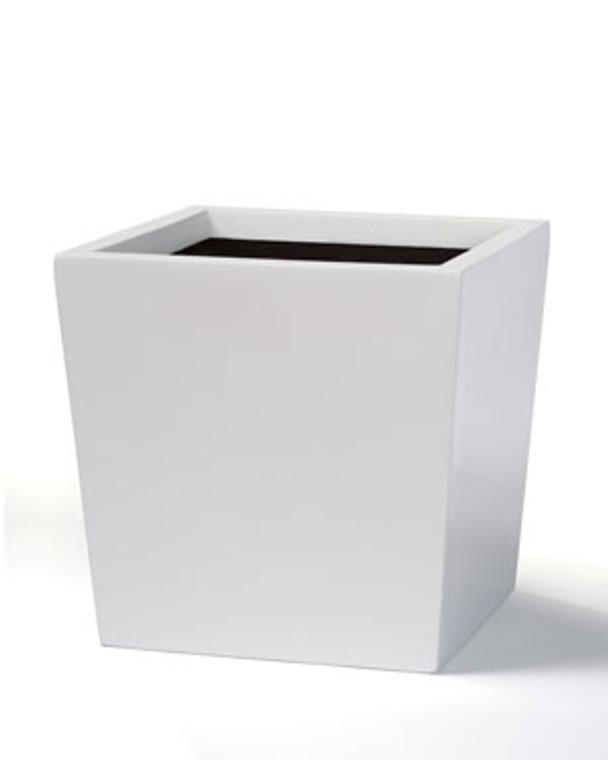 """Fiberglass Cubico Container - 10""""W x 9""""H - Satin White"""