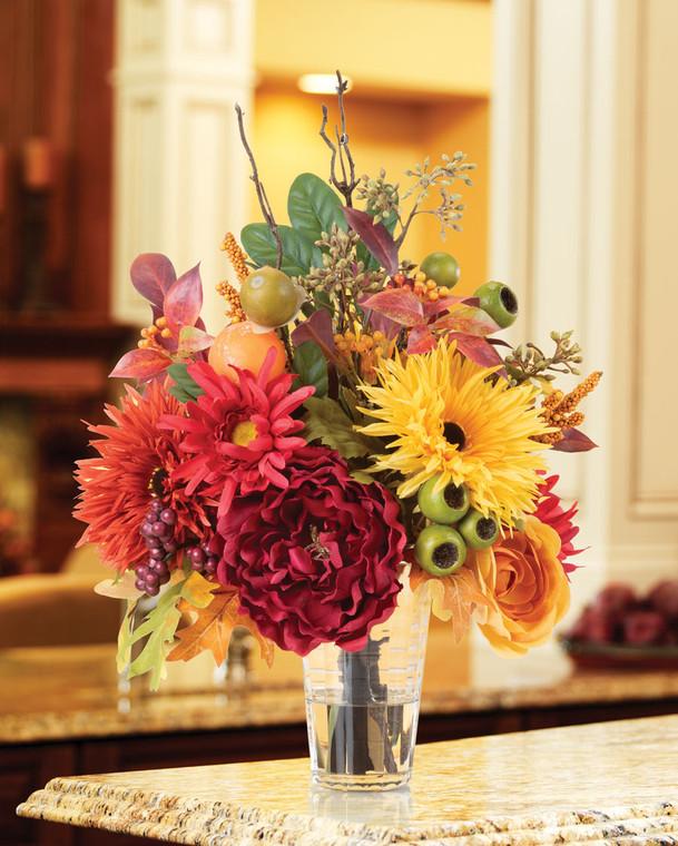 Autumn's Palette Silk Flower Centerpiece