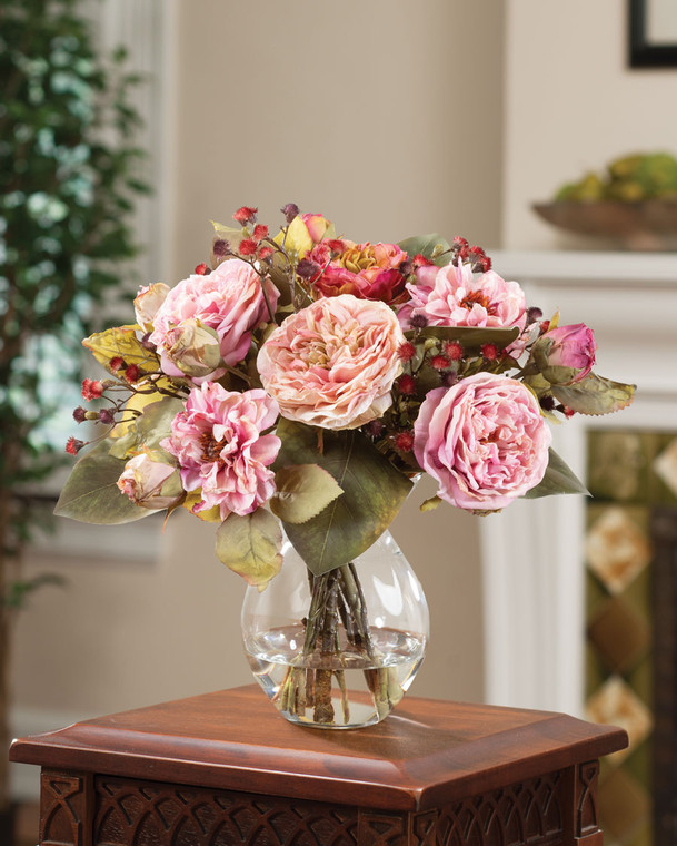 The Charm of Roses Faux Flower Bouquet