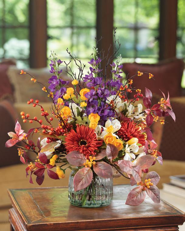 Autumn's Glow Faux Flower Arrangement