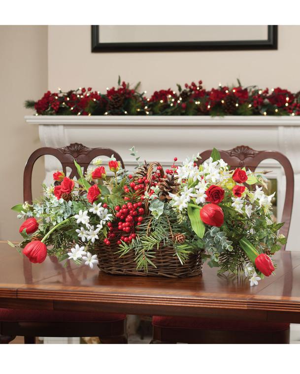 Holiday Market Faux Flower Centerpiece