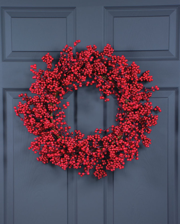 Holiday Berry Artificial Christmas Wreath