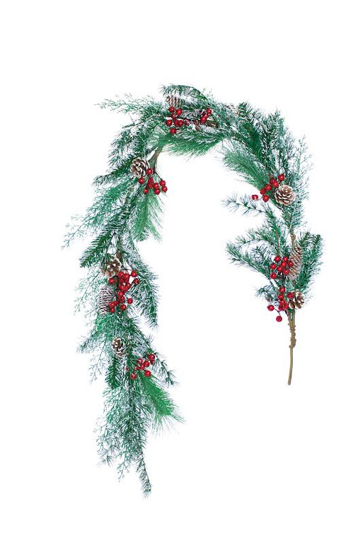 Winterberry Frost Artificial Holiday Garland