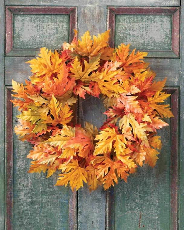 Golden Maple Faux Foliage Wreath