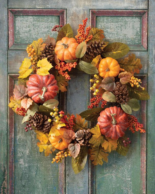 Pumpkins & Berries Autumn Wreath