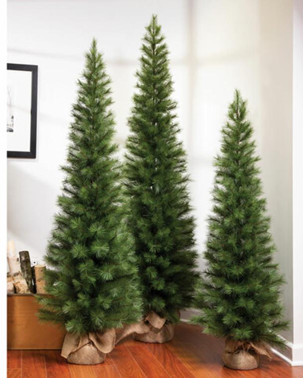 5' Austrian Pine Slim Artificial Christmas Tree