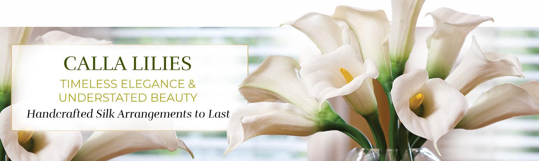 Silk Flower Calla Lily Handcrafted Arrangements