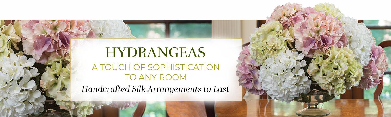 Silk Flower Handcrafted Hydrangea Arrangements
