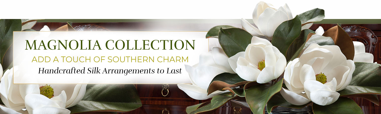 Silk Flower Handcrafted Magnolia Arrangements
