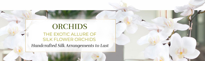 Silk Flower Handcrafted Orchid Arrangements