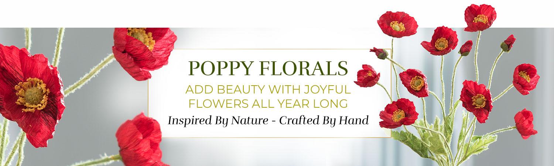Silk Flower Handcrafted Poppy Arrangements