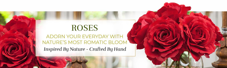 Silk Flower Handcrafted Rose Arrangements