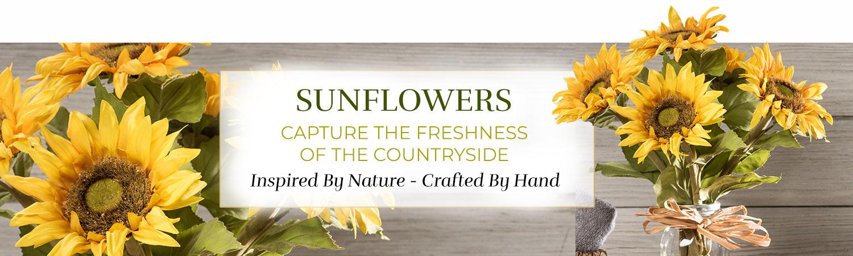 Silk Flower Handcrafted Sunflower Arrangements