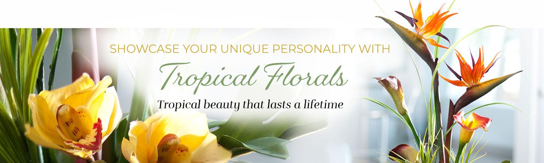 Tropical Faux Flower Arrangements