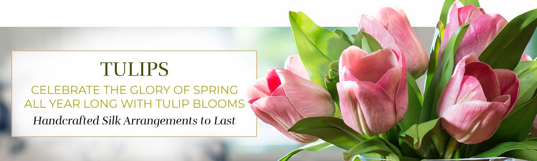 Silk Flower Handcrafted Tulip Arrangements
