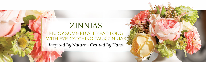 Silk Flower Handcrafted Zinnias Arrangements
