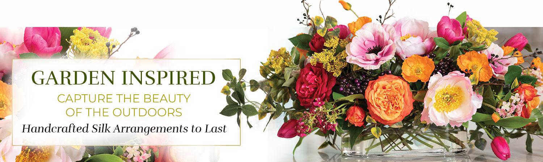 Garden Inspired Silk Flowers
