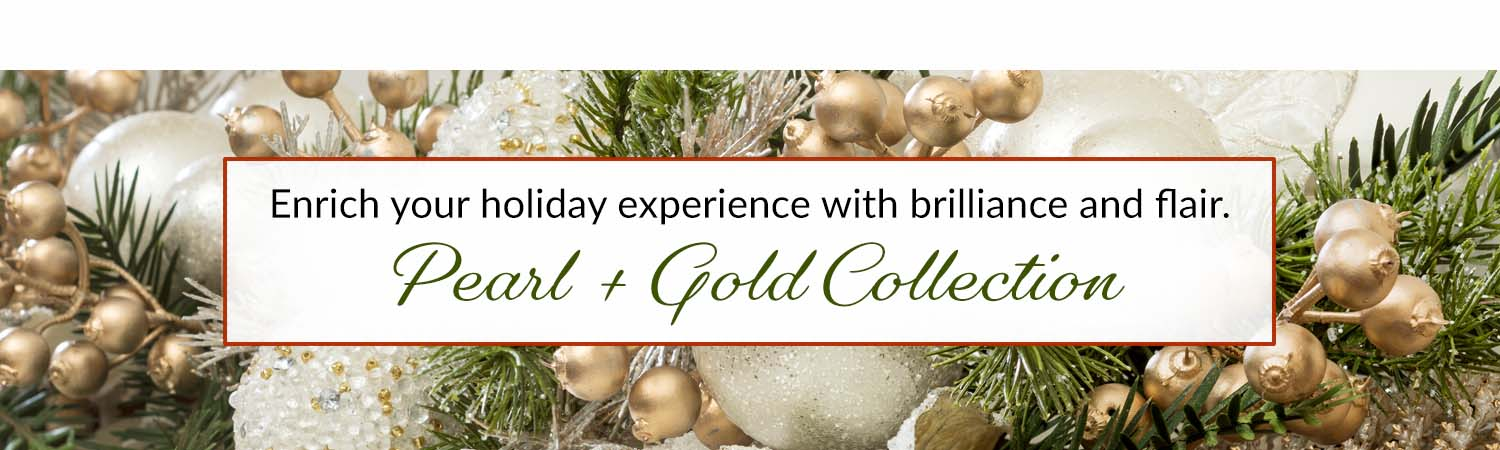 Holiday Pearl & Gold Silk Floral Collection