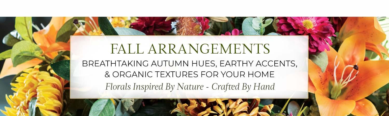 Fall & Autumn Silk Flower Arrangements