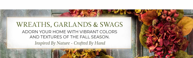 Silk & Artificial Wreaths, Garlands & Swags