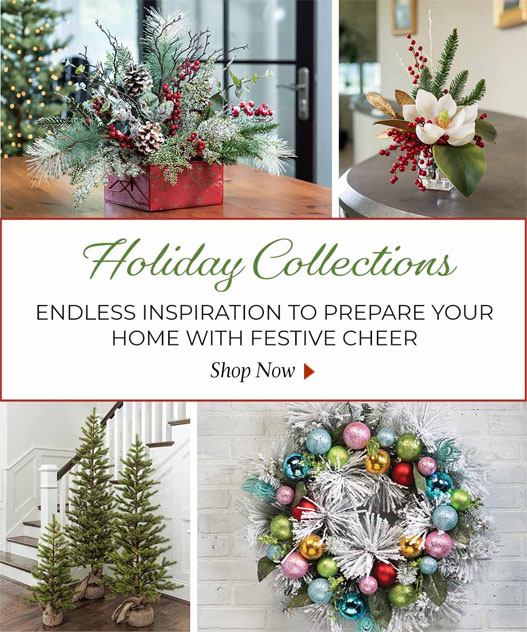 Holiday Silk Flowers, plants and trees available at Petals.com