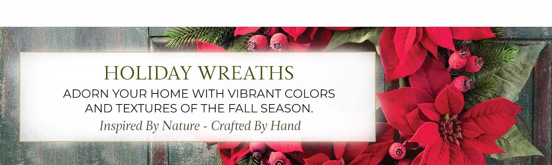 Holiday Silk Wreaths, Garlands & Swags