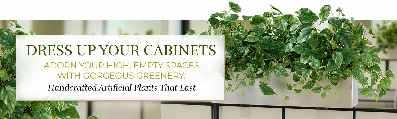 Cabinet Top Artificial Plants