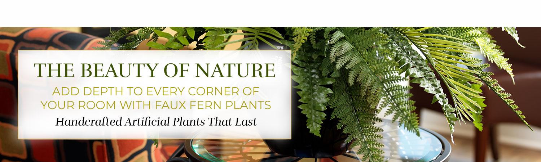 Silk & Artificial Fern and Grass Plants