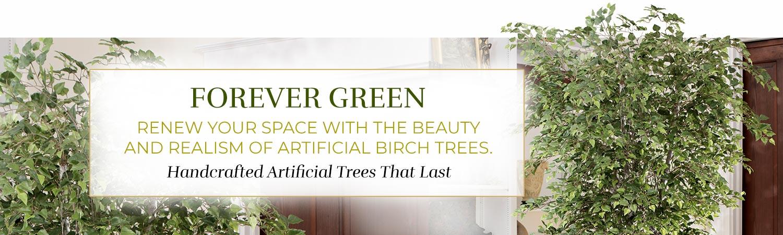Silk & Artificial Birch Trees